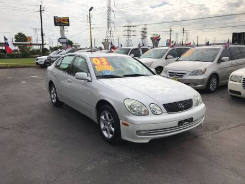 2003 Lexus GS 300 for sale at Texas 1 Auto Finance in Kemah TX
