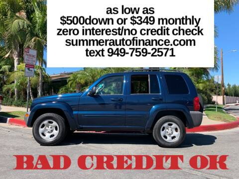 2004 Jeep Liberty for sale at SUMMER AUTO FINANCE in Costa Mesa CA