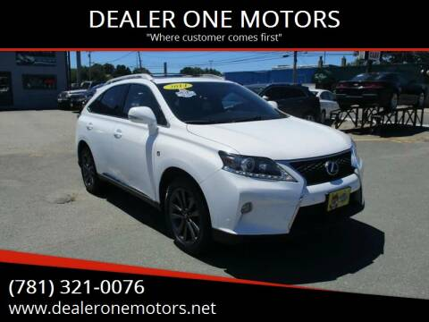 2014 Lexus RX 350 for sale at DEALER ONE MOTORS in Malden MA