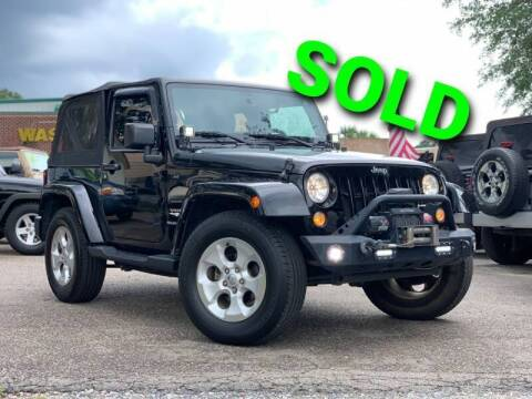 2015 Jeep Wrangler for sale at Rodgers Wranglers in North Charleston SC