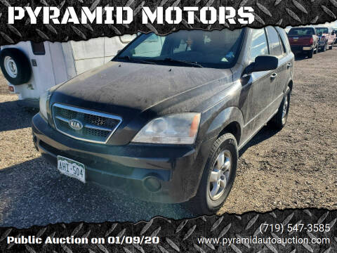2006 Kia Sorento for sale at PYRAMID MOTORS - Pueblo Lot in Pueblo CO
