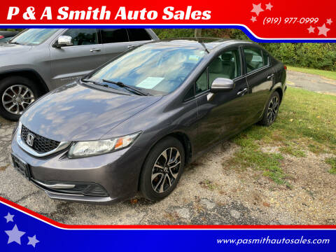2014 Honda Civic for sale at P & A Smith Auto Sales in Garner NC