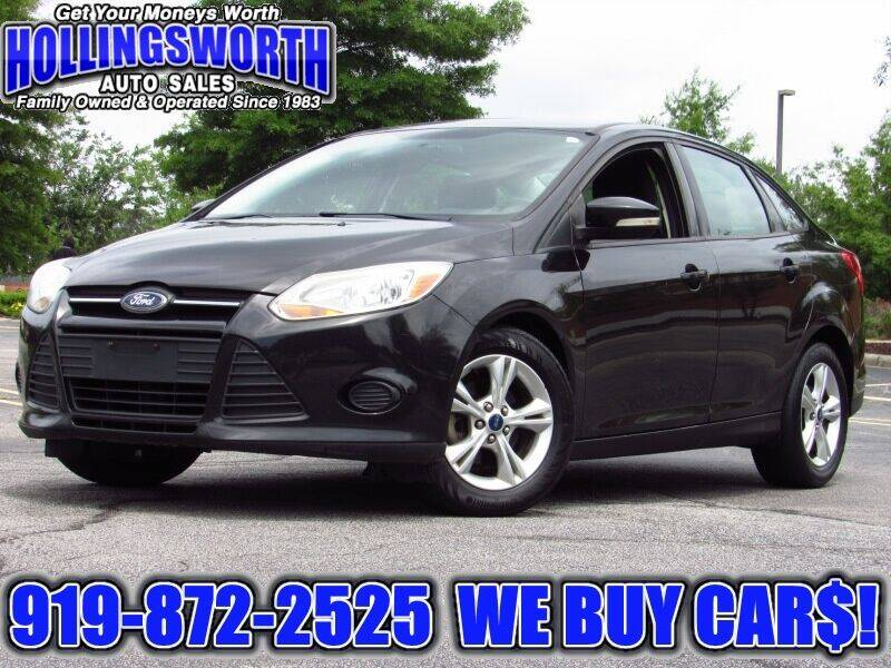 2013 Ford Focus for sale at Hollingsworth Auto Sales in Raleigh NC