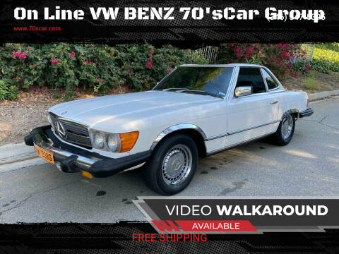 1980 Mercedes-Benz 450 SL for sale at On Line VW BENZ 70'sCar Group in Warehouse CA