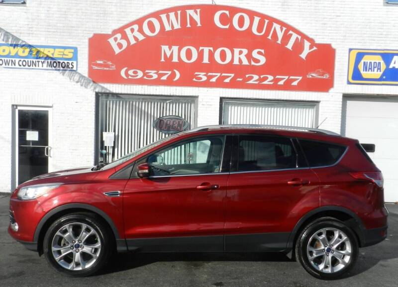2014 Ford Escape for sale at Brown County Motors in Russellville OH