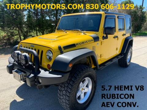 2008 Jeep Wrangler Unlimited for sale at TROPHY MOTORS in New Braunfels TX