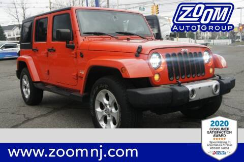 2015 Jeep Wrangler Unlimited for sale at Zoom Auto Group in Parsippany NJ