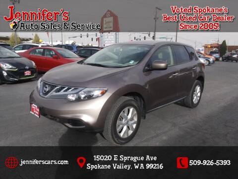 2014 Nissan Murano for sale at Jennifer's Auto Sales in Spokane Valley WA