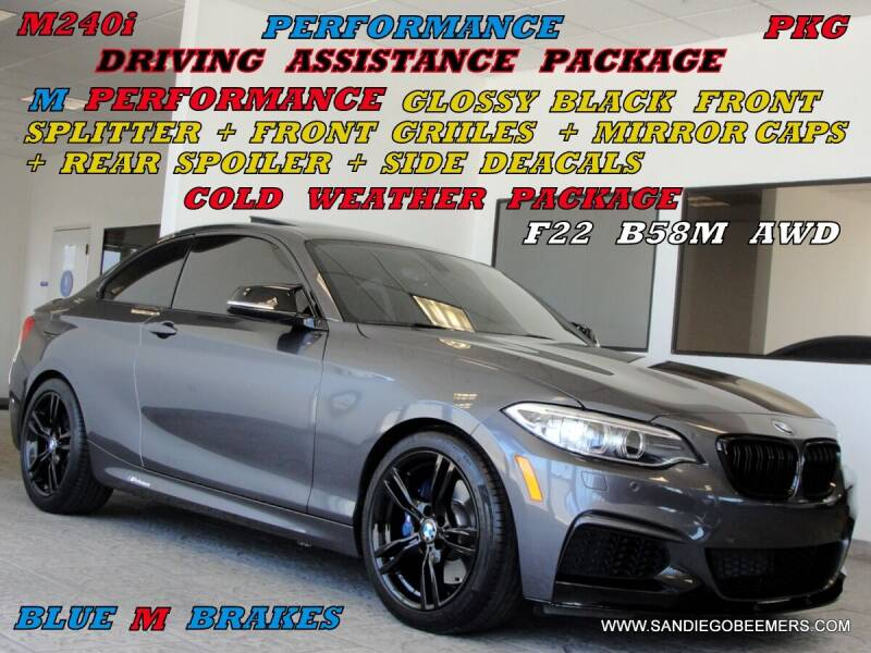 2017 BMW 2 Series for sale at SAN DIEGO BEEMERS in San Diego CA