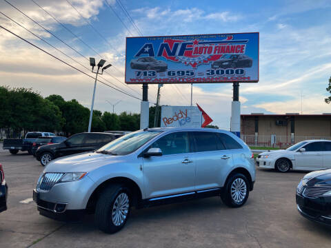2013 Lincoln MKX for sale at ANF AUTO FINANCE in Houston TX
