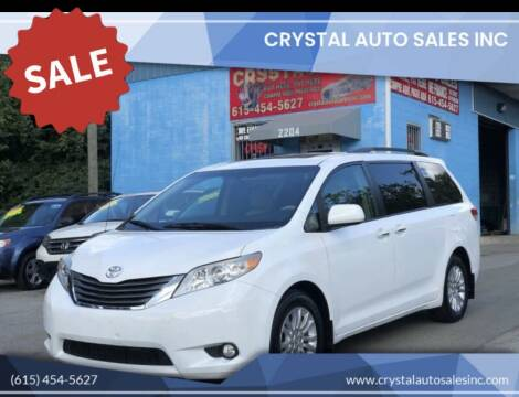 2012 Toyota Sienna for sale at Crystal Auto Sales Inc in Nashville TN