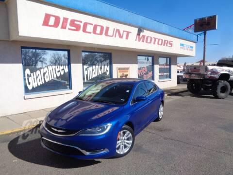 2015 Chrysler 200 for sale at Discount Motors in Pueblo CO