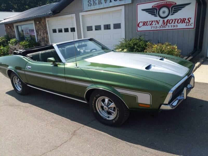 1972 Ford Mustang for sale at CRUZ'N MOTORS - Classics in Spirit Lake IA