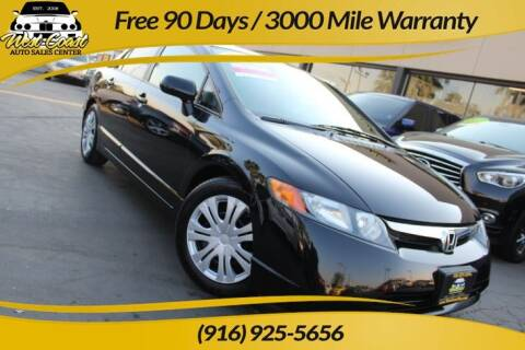 2008 Honda Civic for sale at West Coast Auto Sales Center in Sacramento CA
