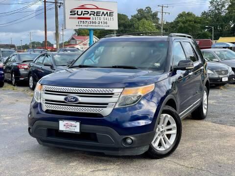 2011 Ford Explorer for sale at Supreme Auto Sales in Chesapeake VA