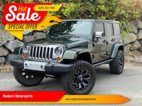 2011 Jeep Wrangler Unlimited for sale at Mudarri Motorsports in Kirkland WA