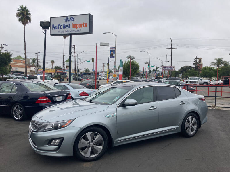 2014 Kia Optima Hybrid for sale at Pacific West Imports in Los Angeles CA