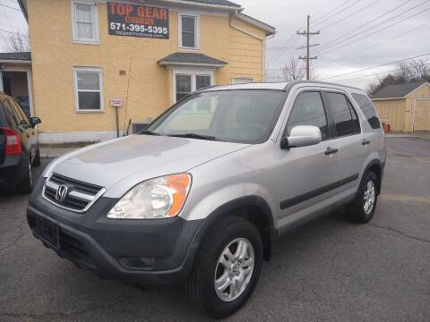 2003 Honda CR-V for sale at Top Gear Motors in Winchester VA