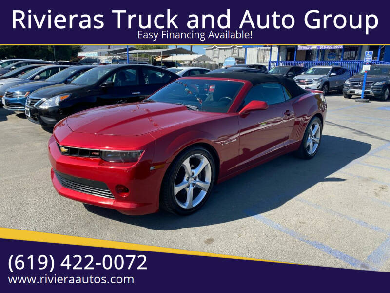 2015 Chevrolet Camaro for sale at Rivieras Truck and Auto Group in Chula Vista CA