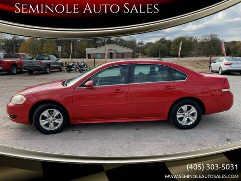 2012 Chevrolet Impala for sale at Seminole Auto Sales in Seminole OK