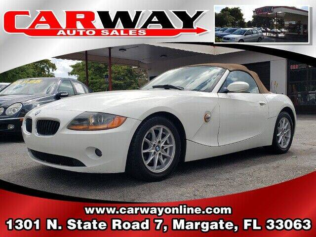 2003 BMW Z4 for sale at CARWAY Auto Sales in Margate FL
