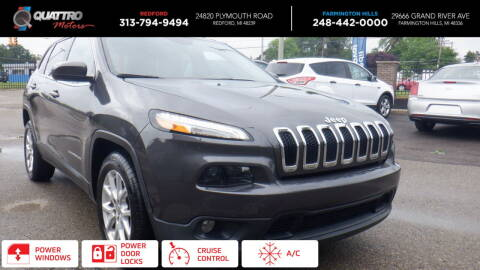 2016 Jeep Cherokee for sale at Quattro Motors 2 - 1 in Redford MI