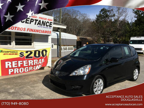 2010 Honda Fit for sale at Acceptance Auto Sales Douglasville in Douglasville GA