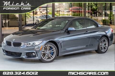 2015 BMW 4 Series for sale at Mich's Foreign Cars in Hickory NC