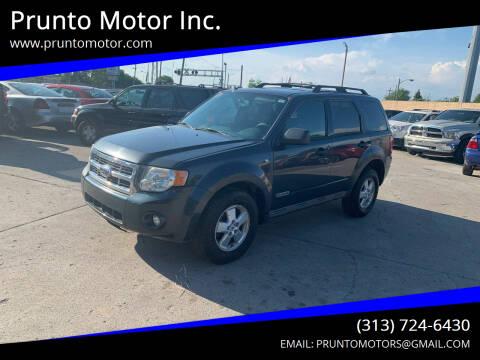 2008 Ford Escape for sale at Prunto Motor Inc. in Dearborn MI
