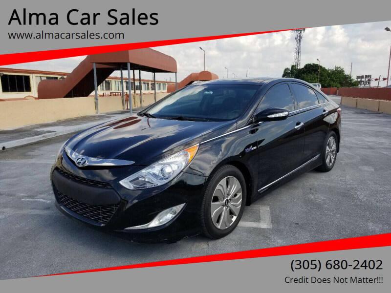 2014 Hyundai Sonata Hybrid for sale at Alma Car Sales in Miami FL