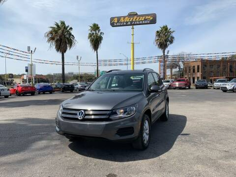 2015 Volkswagen Tiguan for sale at A MOTORS SALES AND FINANCE in San Antonio TX