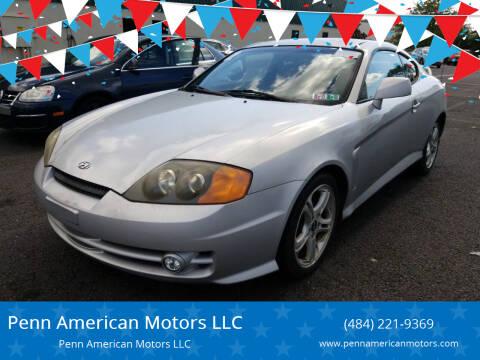 2004 Hyundai Tiburon for sale at Penn American Motors LLC in Allentown PA