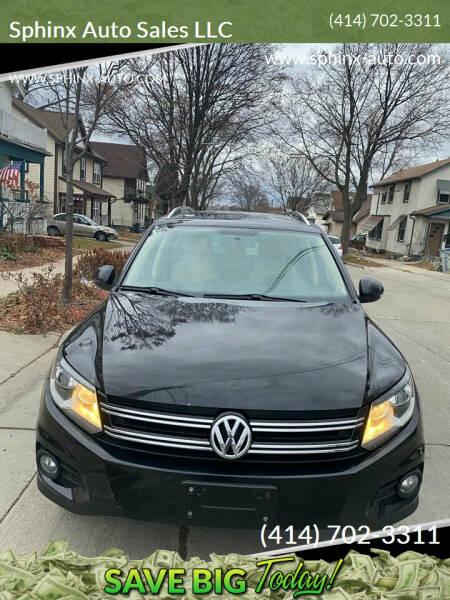 2014 Volkswagen Tiguan for sale at Sphinx Auto Sales LLC in Milwaukee WI