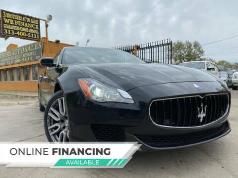2015 Maserati Quattroporte for sale at 3 Brothers Auto Sales Inc in Detroit MI