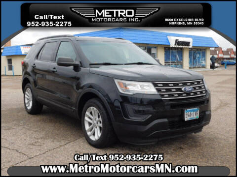 2016 Ford Explorer for sale at Metro Motorcars Inc in Hopkins MN