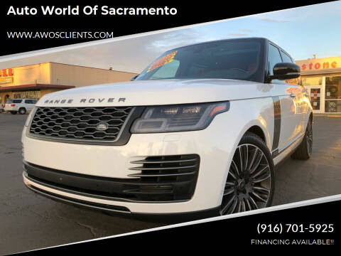 2018 Land Rover Range Rover for sale at Auto World of Sacramento Stockton Blvd in Sacramento CA