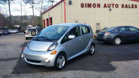 2012 Mitsubishi i-MiEV for sale at Simon's Auto Sales in Clayton NC