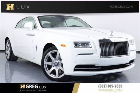 2016 Rolls-Royce Wraith for sale at HGREG LUX EXCLUSIVE MOTORCARS in Pompano Beach FL