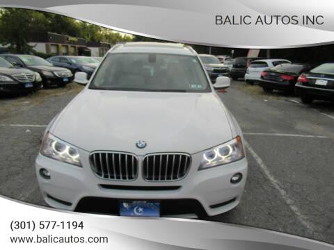 2013 BMW X3 for sale at Balic Autos Inc in Lanham MD