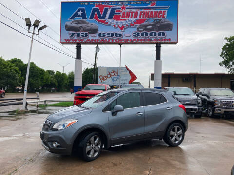 2013 Buick Encore for sale at ANF AUTO FINANCE in Houston TX