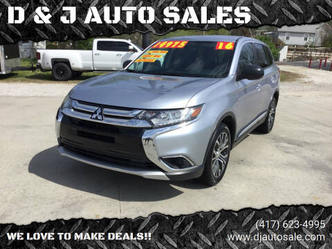 2016 Mitsubishi Outlander for sale at D & J AUTO SALES in Joplin MO