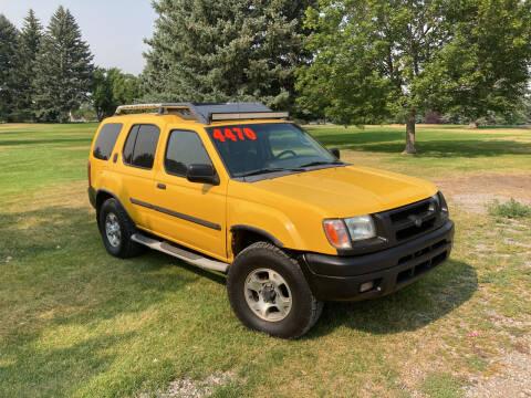 2001 Nissan Xterra for sale at BELOW BOOK AUTO SALES in Idaho Falls ID