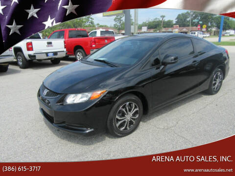 2012 Honda Civic for sale at ARENA AUTO SALES,  INC. in Holly Hill FL