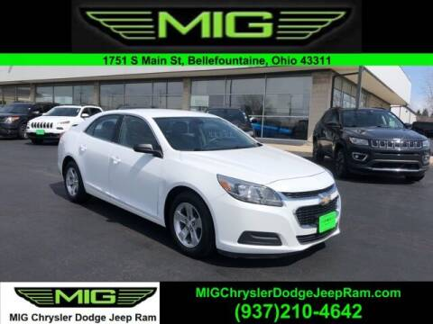 2015 Chevrolet Malibu for sale at MIG Chrysler Dodge Jeep Ram in Bellefontaine OH