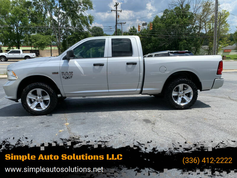 2016 RAM Ram Pickup 1500 for sale at Simple Auto Solutions LLC in Greensboro NC