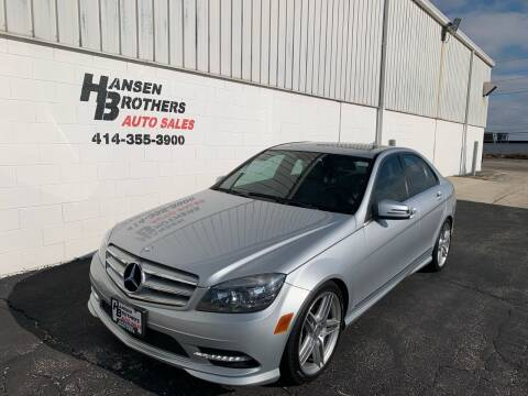 2011 Mercedes-Benz C-Class for sale at HANSEN BROTHERS AUTO SALES in Milwaukee WI