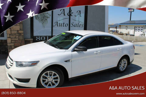 2013 Ford Taurus for sale at A&A Auto Sales in Orem UT