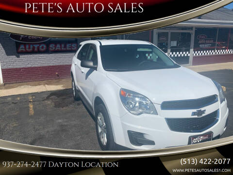 2015 Chevrolet Equinox for sale at PETE'S AUTO SALES LLC - Dayton in Dayton OH