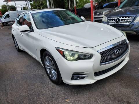 2014 Infiniti Q50 for sale at America Auto Wholesale Inc in Miami FL