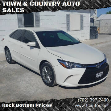 2017 Toyota Camry for sale at TOWN & COUNTRY AUTO SALES in Overton NV